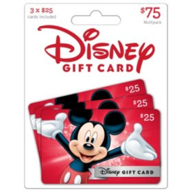 Disney $75 Gift Cards - 3 x $25