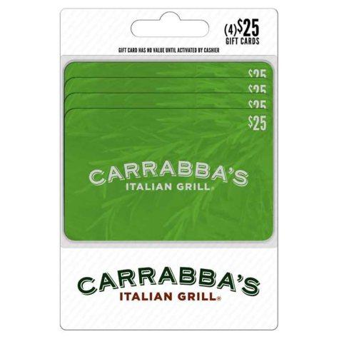 Carrabba's Gift Card - $25