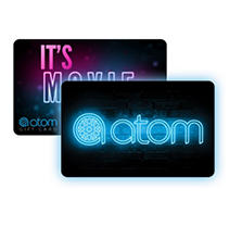 Atom Tickets $50 Value Gift Cards - 2 x $25