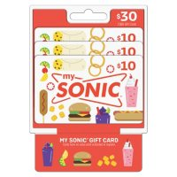 SONIC $30 Value Gift Cards - 3 x $10