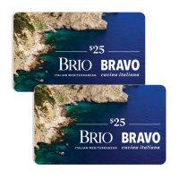 Bravo Brio Restaurant Group $50 Value Gift Cards - 2 x $25