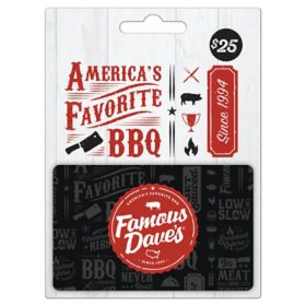 Famous Dave's $25 Gift Card