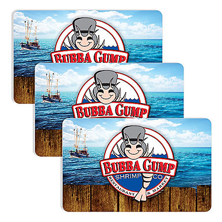 Bubba Gump (Landry's) $90 Value Gift Cards - 3 x $25 Plus Bonus $15 Card