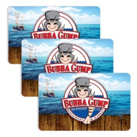 Bubba Gump (Landry's) $90 Value Gift Cards - 3 x $25 Plus Bonus $15 Card