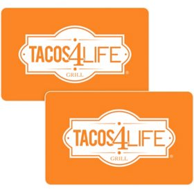 Tacos 4 Life $50 Value Gift Cards -2 x $25