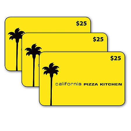 California Pizza Kitchen $75 Value Gift Cards - 3 x $25