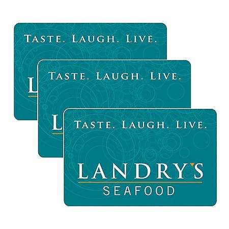 Landry's $90 Value Gift Cards - 3 x $25 Plus Bonus $15 Card