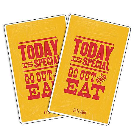 Fatz Café (GA, NC, SC, TN, VA) $50 Value Gift Cards - 2 x $25