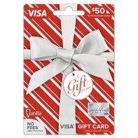 Vanilla Visa Silver Metallic Bow $50 Gift Card