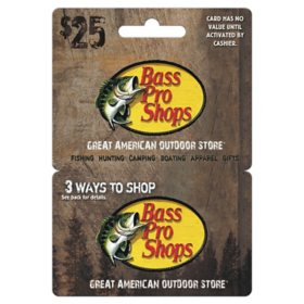 Bass Pro $25 Value Gift Card