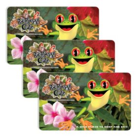 Rainforest Cafe (Landry's) $90 Value Gift Cards - 3 x $25 Plus Bonus $15 Card