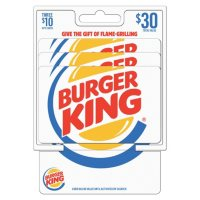Burger King $30 Value Gift Cards - 3 x $10