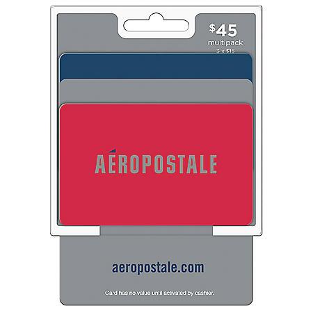 Aeropostale $45 Value Cards - 3 x $15