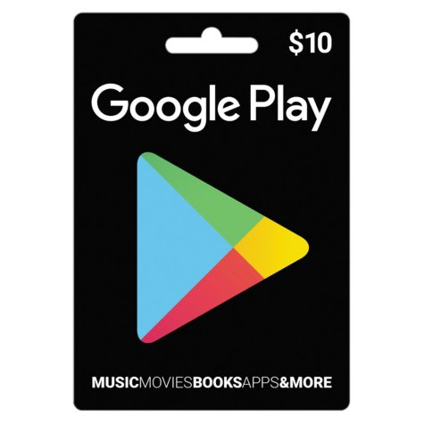 Google Play Gift Card- Various Amounts