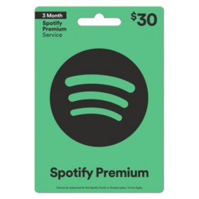 Spotify Gift Card - Various Values