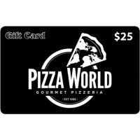 $50 2 x $25 Pizza World Gift Cards (IL, MO)