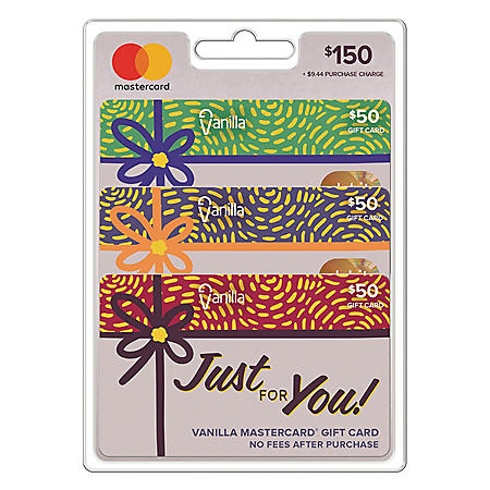 Vanilla® Mastercard® Shimmer Box $150 Value Gift Cards - 3 x $50
