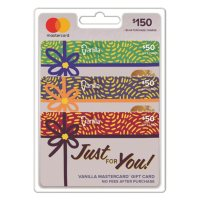 Vanilla® Mastercard® Shimmer Box $150 Value Gift Cards - 3 x $50