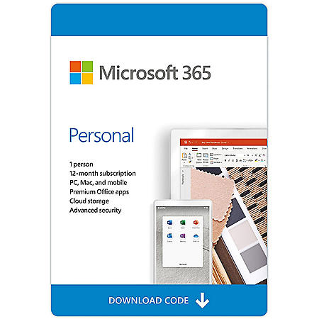 Microsoft Office 365 Personal 2020 eGift Card (Email Delivery)