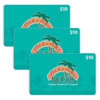 Bahama Buck's $30 Value Gift Cards - 3 x $10