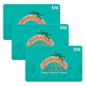Bahama Bucks $30 Value Gift Cards - 3 x $10