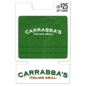 Carrabba's $75 Value Gift Cards - 3 x $25