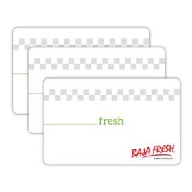 Baja Fresh $30 Value Gift Cards - 3 x $10