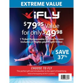 iFLY Indoor Skydiving 1 Voucher 2 Flights