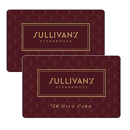 Sullivan's Steakhouse $100 Value Gift Cards - 2 x $50