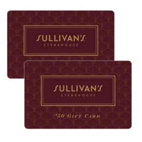 Sullivan's Steakhouse $100 Value Gift Cards - 2 x $50