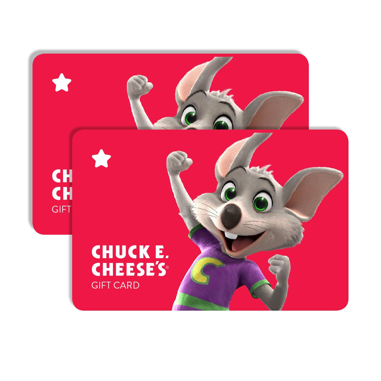 $50 (2 x $25) Chuck E Cheese Gift Cards