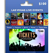 Tickets Card Las Vegas Live Events $100 Value