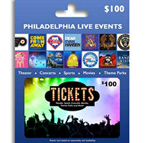 Tickets Card Philadelphia & Reading Live Events $100 Value