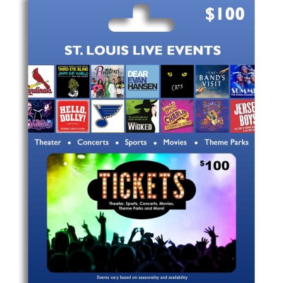 $100 Tickets Card St. Louis Live Events