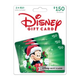 Disney $150 Gift Card Multi-Pack: Holiday Theme