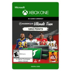 Madden NFL 20: MUT 5850 Madden Points Pack (Xbox One) - Digital Code