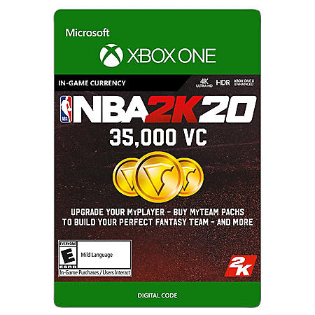 NBA 2K20: Virtual Currently (Xbox One)  Multiple Amounts- Digital Code (Email Delivery)