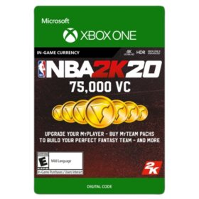 NBA 2K20: 75,000 VC (Xbox One) - Digital Code (Email Delivery)