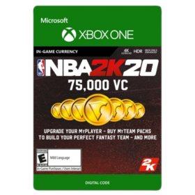 NBA 2K20: 75,000 VC (Xbox One) - Digital Code
