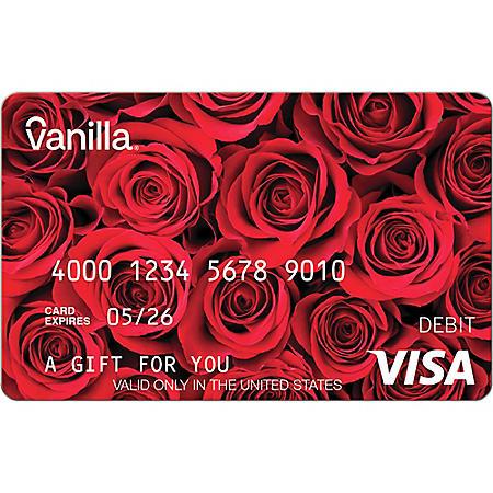 Vanilla eGift Visa® Virtual Account - Red Roses Various Amounts (Email Delivery)