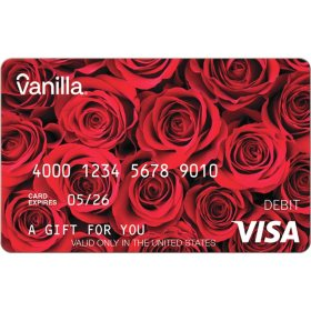 Vanilla eGift Visa® Virtual Account - Red Roses Various Amounts (Email Delivery)