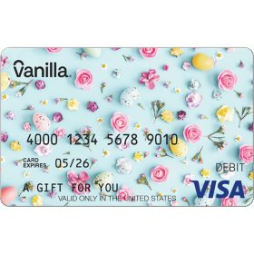 Vanilla eGift Visa® Virtual Account - Flowers Various Amount - (Email Delivery)