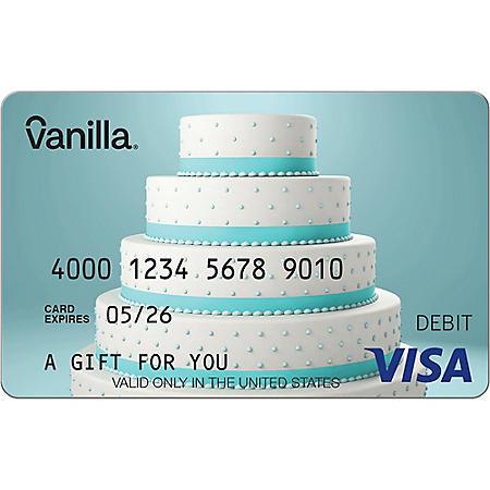 Vanilla eGift Visa® Virtual Account - Blue Cake Various Amount (Email Delievery)