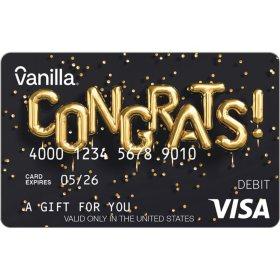 Vanilla eGift Visa® Virtual Account - Congrats Various Amount (Email Delivery)