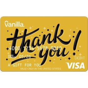 Vanilla eGift Visa® Virtual Account - Thank-you Various Amount (Email Delivery)