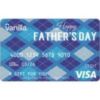 Vanilla eGift Visa® Virtual Account - Father's Day Various Amount (Email Delivery)