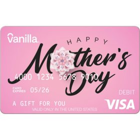 Vanilla eGift Visa® Virtual Account - Mother's Day Various Amount (Email Delivery)