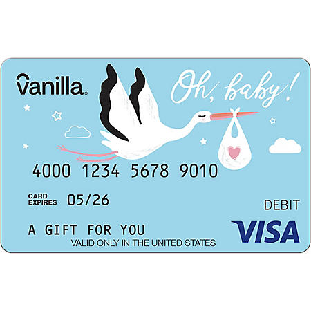 Vanilla eGift Visa® Virtual Account - Baby Various Amount (Email Delivery)