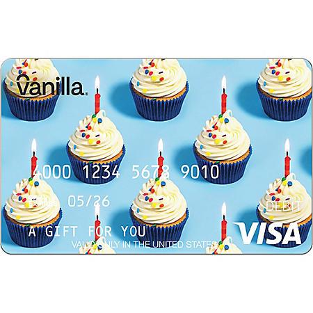 Vanilla eGift Visa® Virtual Account - Cupcakes Various Amount (Email Delivery)