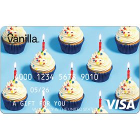 Vanilla eGift Visa® Virtual Account - Cupcakes Various Amount (Email Delivery)